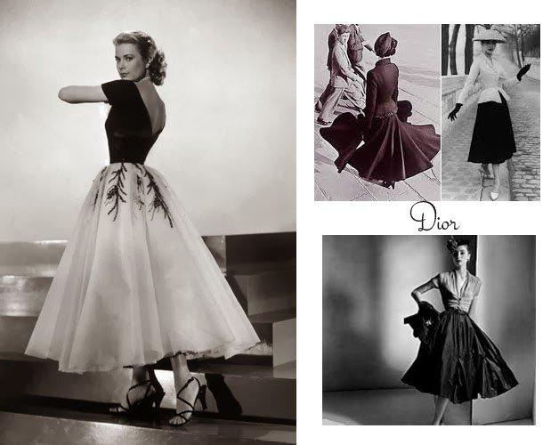 abiti moda anni 40 dior